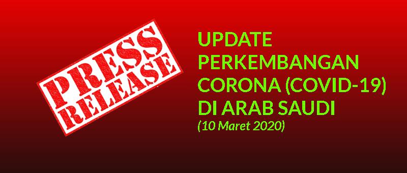 Update Perkembangan Corona Covid 19 Di Arab Saudi Per 10 Maret 2020