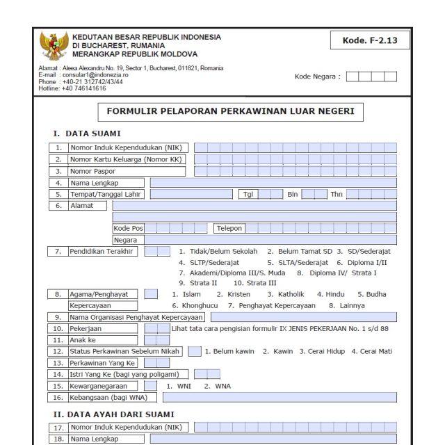 Data Status Perkawinan